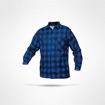 Flanelová košile modrá