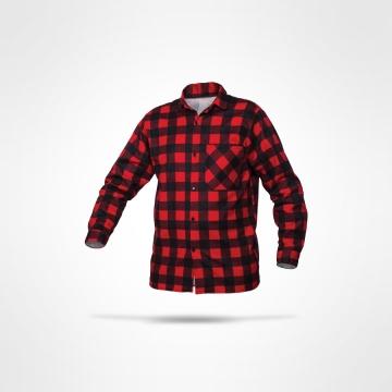 Flanelová košile červená