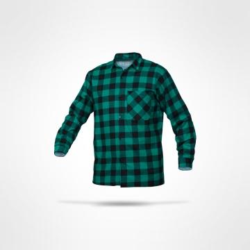 Flanelová košile zelená